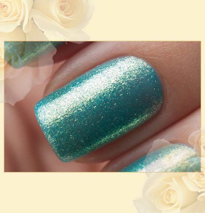 EL Corazon Active Bio-gel Color gel polish Magic №423/573 Magic sparkling sea