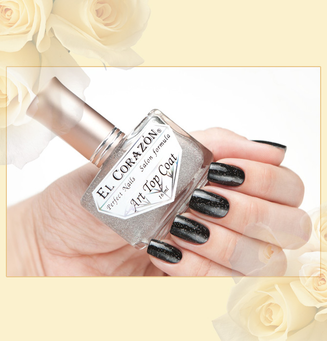 EL Corazon Art Top Coat 421/1 Silver holographic