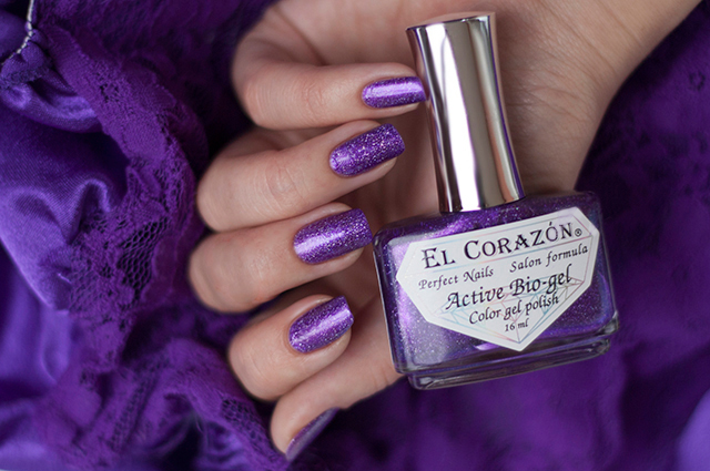423/469 Gemstones: Amethyst Active Bio-gel Color gel polish EL Corazon ��� ������� ���������