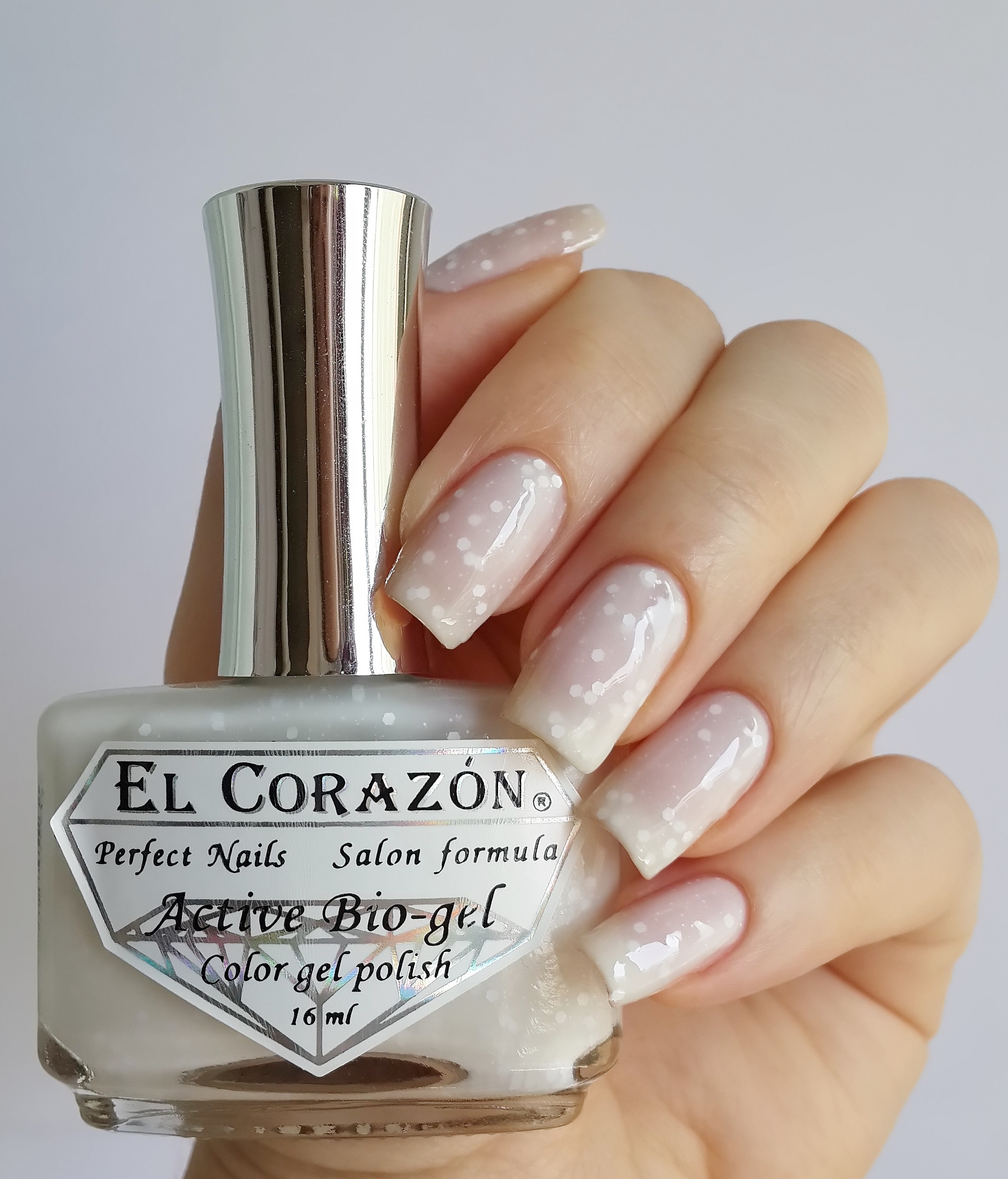 EL Corazon Active Bio-gel Color gel polish Fashion girl on a wedding №423/208