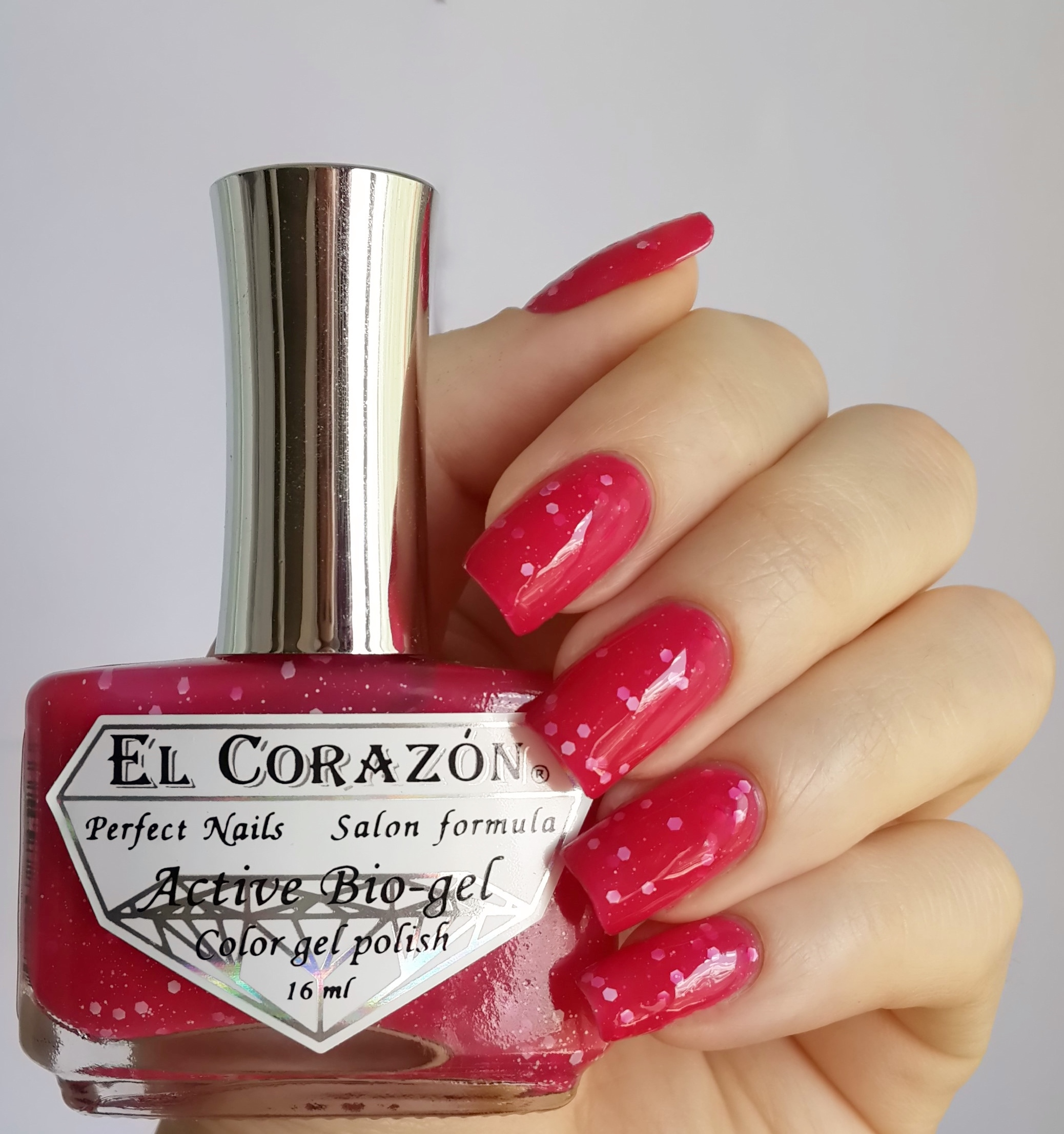 EL Corazon Active Bio-gel Color gel polish Fashion girl on a carnival №423/211