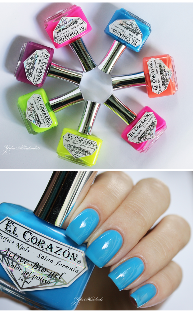 EL Corazon Active Bio-gel Color gel polish Jelly neon, EL Corazon Jelly neon