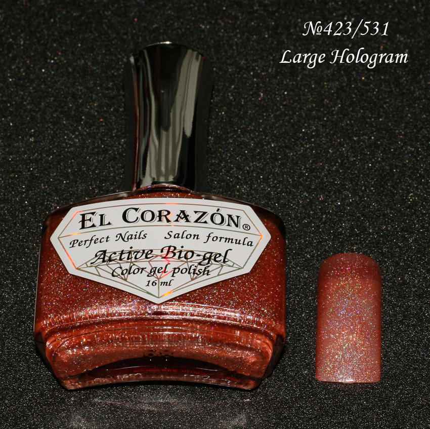 EL Corazon Active Bio-gel Color gel polish Large Hologram №423/531