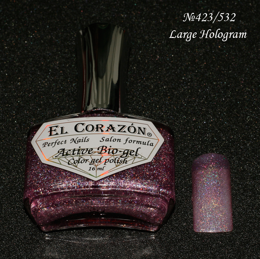 EL Corazon Active Bio-gel Color gel polish Large Hologram №423/532