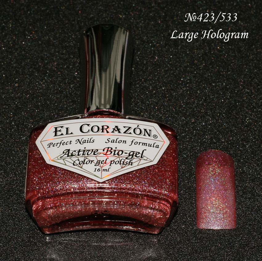EL Corazon Active Bio-gel Color gel polish Large Hologram №423/533