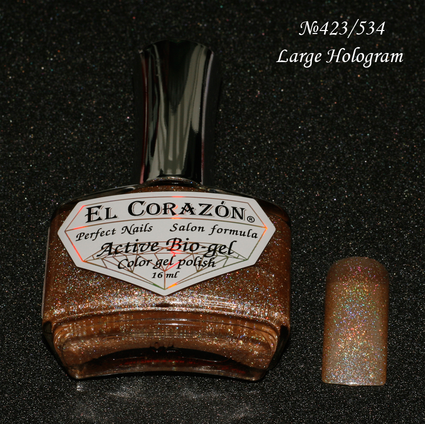 EL Corazon Active Bio-gel Color gel polish Large Hologram №423/534