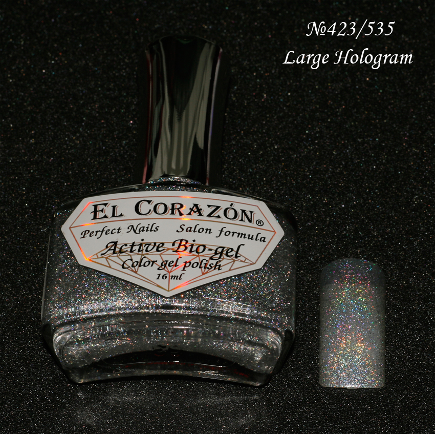 EL Corazon Active Bio-gel Color gel polish Large Hologram №423/535
