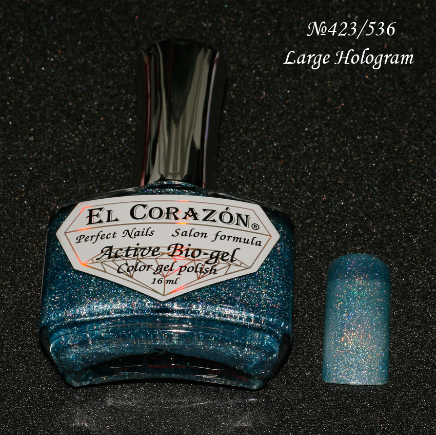 EL Corazon Active Bio-gel Color gel polish Large Hologram №423/536