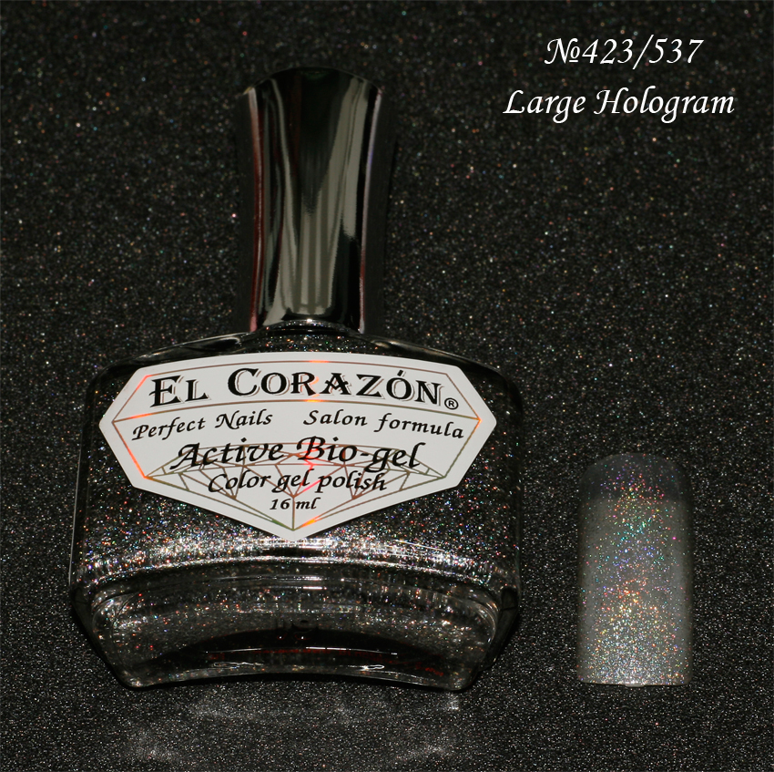 EL Corazon Active Bio-gel Color gel polish Large Hologram №423/537