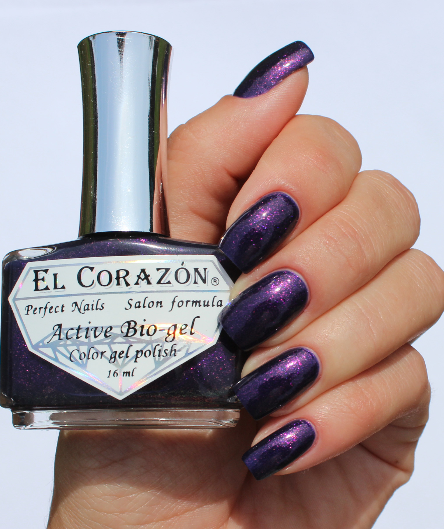 EL Corazon Active Bio-gel Color gel polish Magic №423/578 Magic oriental night