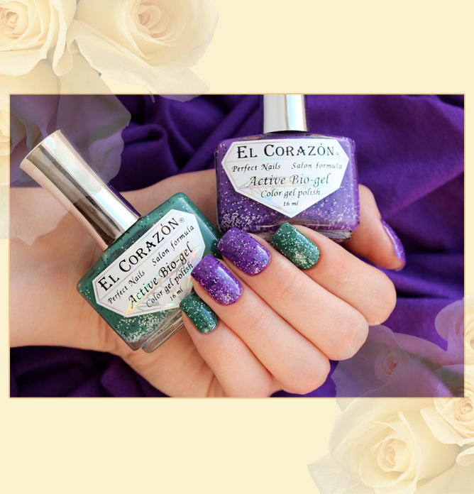EL Corazon Active Bio-gel Color gel polish Fenechka №423/136 и 423/140, EL Corazon Fenechka collection