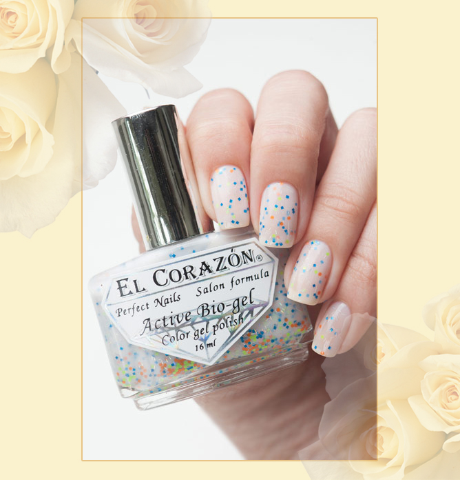 EL Corazon Active Bio-gel Color gel polish Easter cakes №423/110