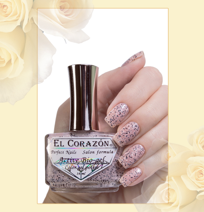 EL Corazon Active Bio-gel Color gel polish Fenechka №423/135, EL Corazon Fenechka collection
