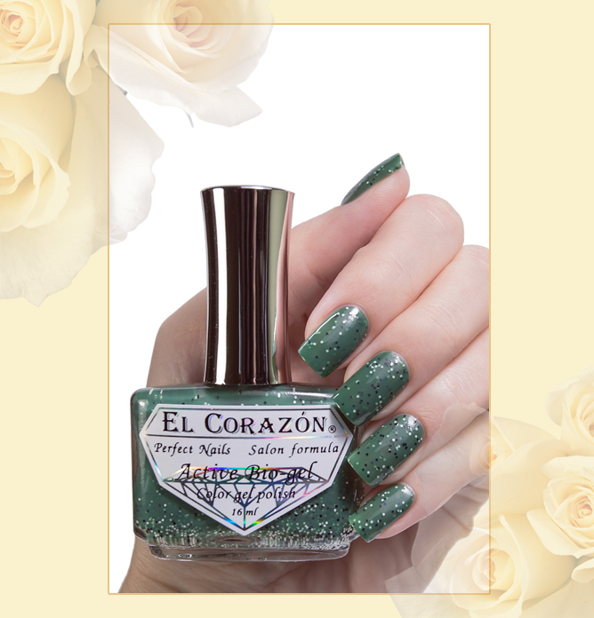 EL Corazon Active Bio-gel Color gel polish Fenechka №423/136, EL Corazon Fenechka collection