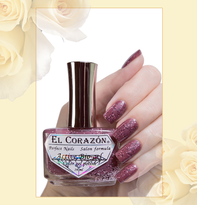 EL Corazon Active Bio-gel Color gel polish Fenechka №423/137, EL Corazon Fenechka collection