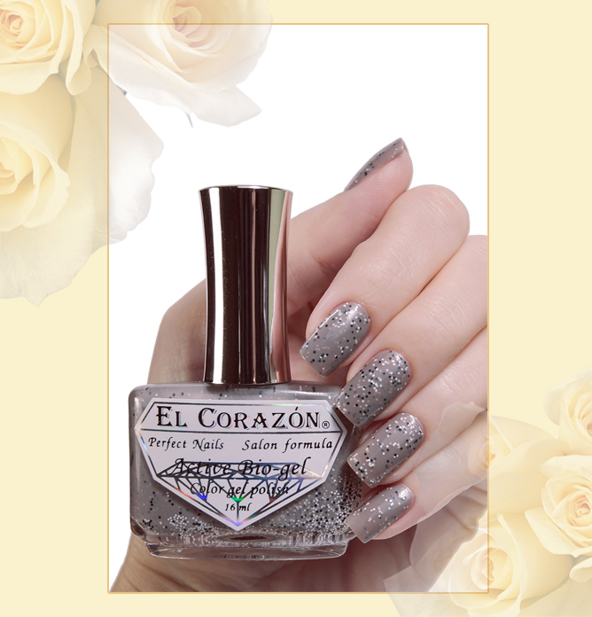EL Corazon Active Bio-gel Color gel polish Fenechka №423/141, EL Corazon Fenechka collection