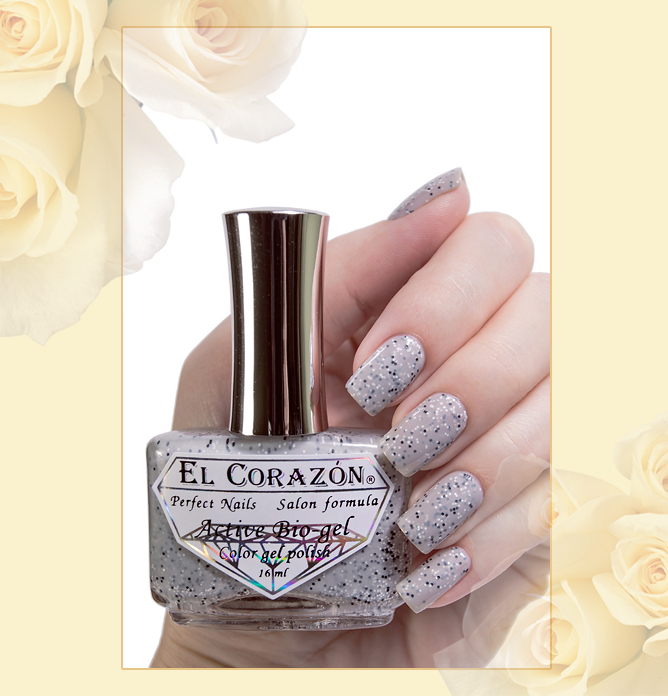 EL Corazon Active Bio-gel Color gel polish Fenechka №423/133, EL Corazon Fenechka collection