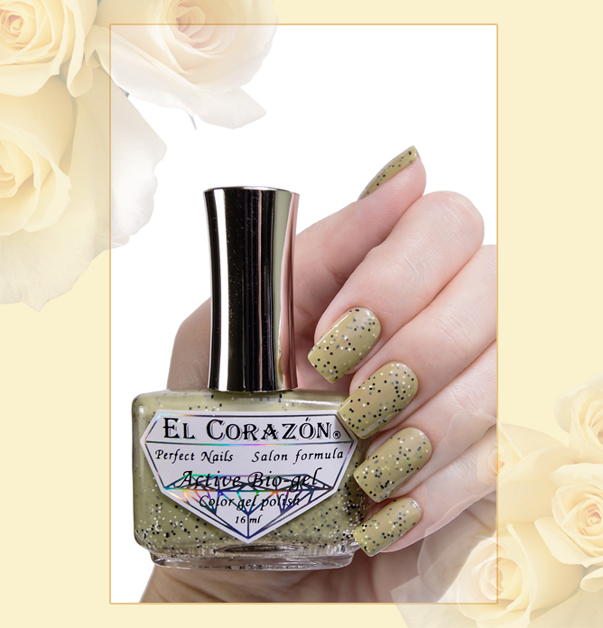 EL Corazon Active Bio-gel Color gel polish Fenechka №423/134, EL Corazon Fenechka collection