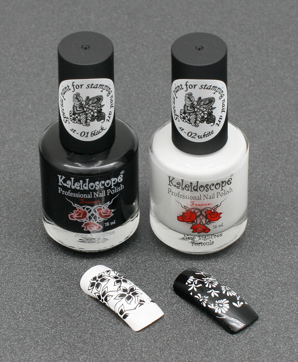 EL Corazon Kaleidoscope Special paint for stamping nail art st-01 black (черный) st-02 white (белый), краска для стемпинга, Эль коразон краска для стемпинга