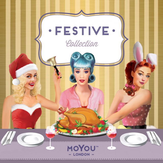 пластины для стемпинга MoYou-London Festive