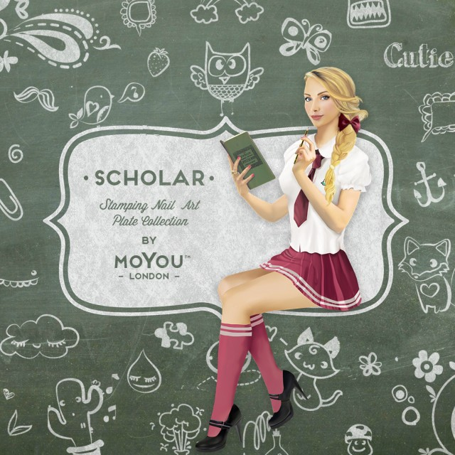 пластины для стемпинга MoYou-London Scholar