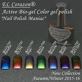 EL Corazon  Active Bio-gel Color gel polish Nail Polish Maniac 423 701 702 703 704 705 706 707