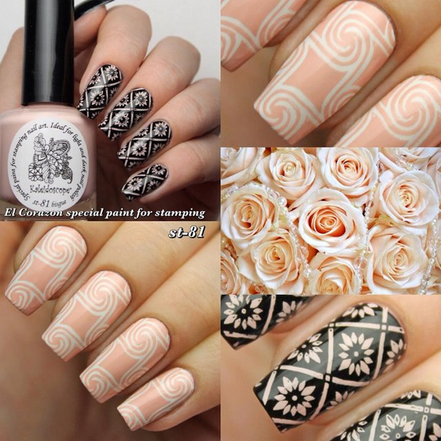 EL Corazon Kaleidoscope Special paint for stamping nail art st-81 bisque