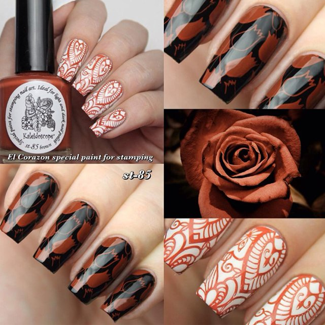 EL Corazon Kaleidoscope Special paint for stamping nail art st-85 brown