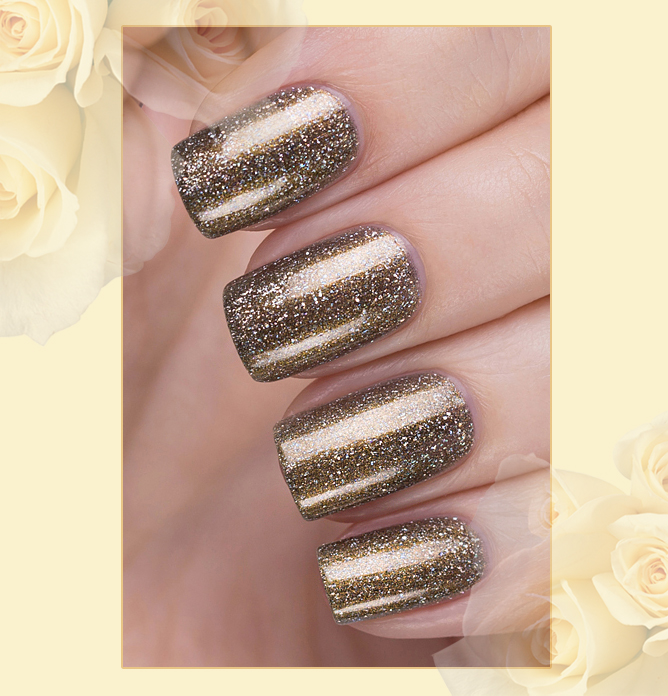 423/461 Gemstones: Pyrite Active Bio-gel Color gel polish EL Corazon Эль Коразон Самоцветы