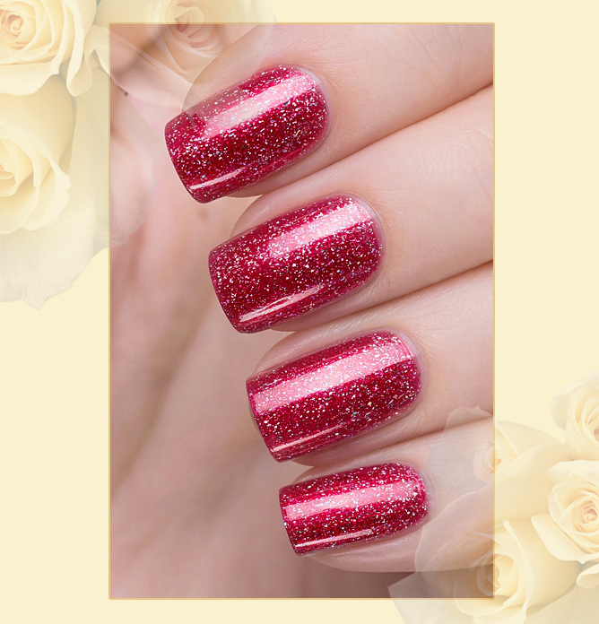 423/463 Gemstones: Granat Active Bio-gel Color gel polish EL Corazon Эль Коразон Самоцветы