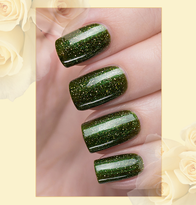 423/468 Gemstones: Emerald Active Bio-gel Color gel polish EL Corazon Эль Коразон Самоцветы