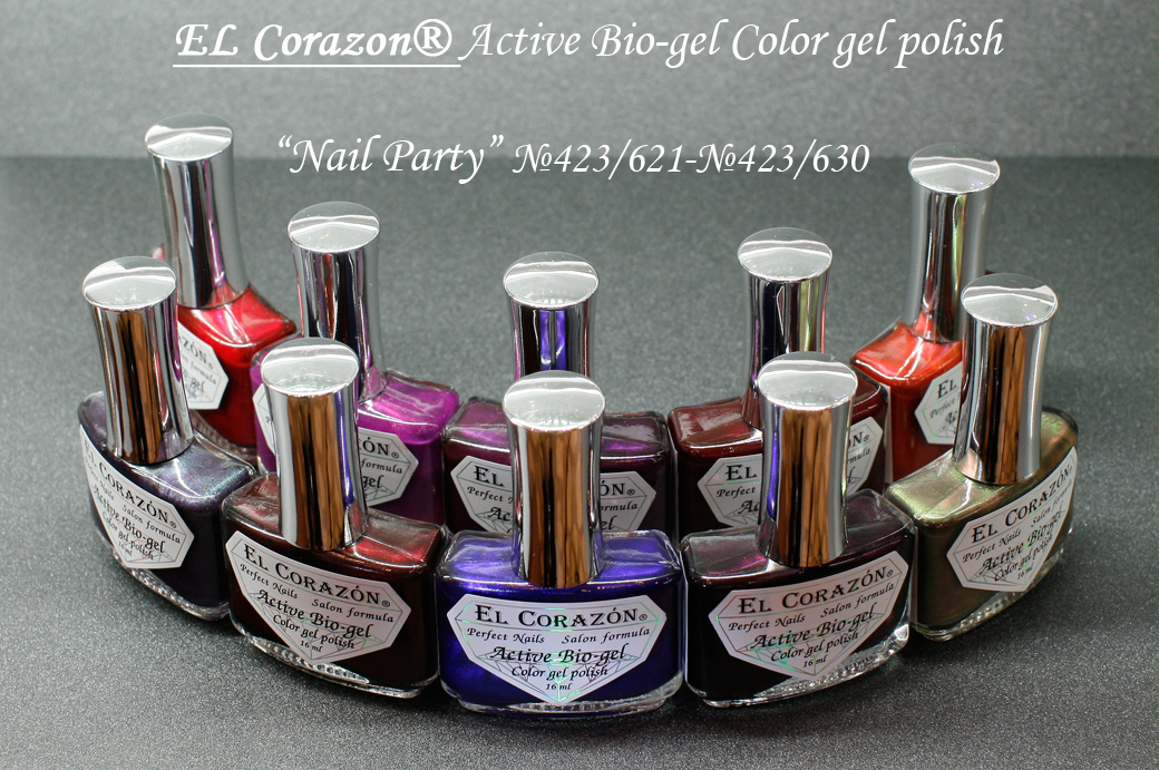EL Corazon Active Bio-gel Nail Party №423/621, №423/622, №423/623, №423/624, №423/625, №423/626, №423/627, №423/628, №423/629, №423/630