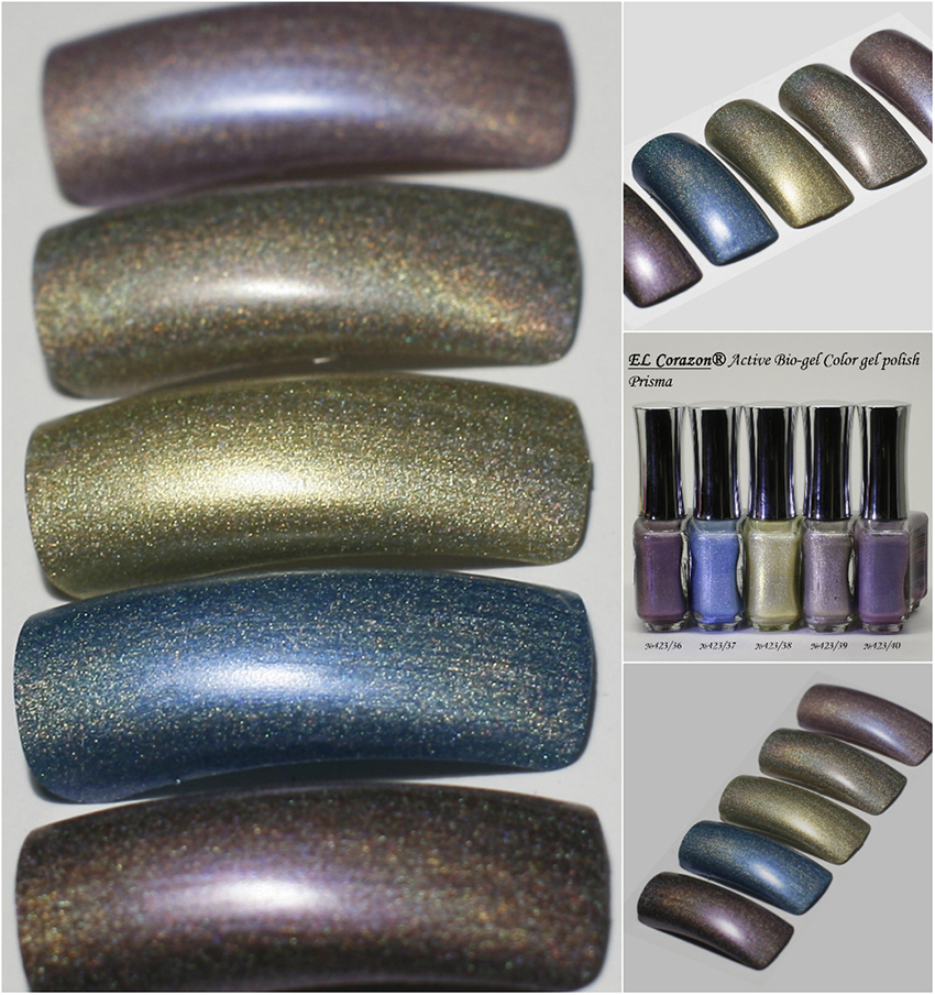 EL Corazon Prisma Active Bio-gel Color gel polish 423/36, №423/37, №423/38, №423/39, 423/40
