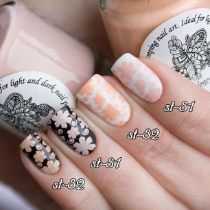 Kaleidoscope лак для ногтей, EL Corazon Kaleidoscope Special paint for stamping nail art st-82 apple flower st-81