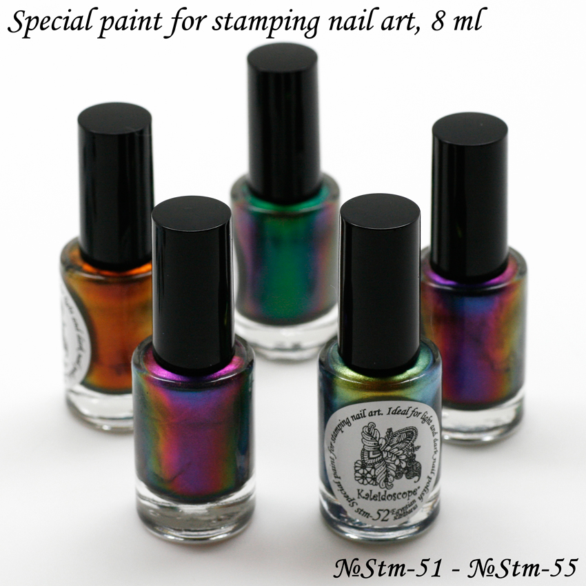 EL Corazon Kaleidoscope Special paint for stamping nail art st-82 apple flower st-81