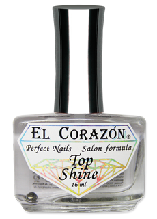 Top Shine, покрытие ногтей лаком, el corazon 410 top shine 16ml, el corazon 410