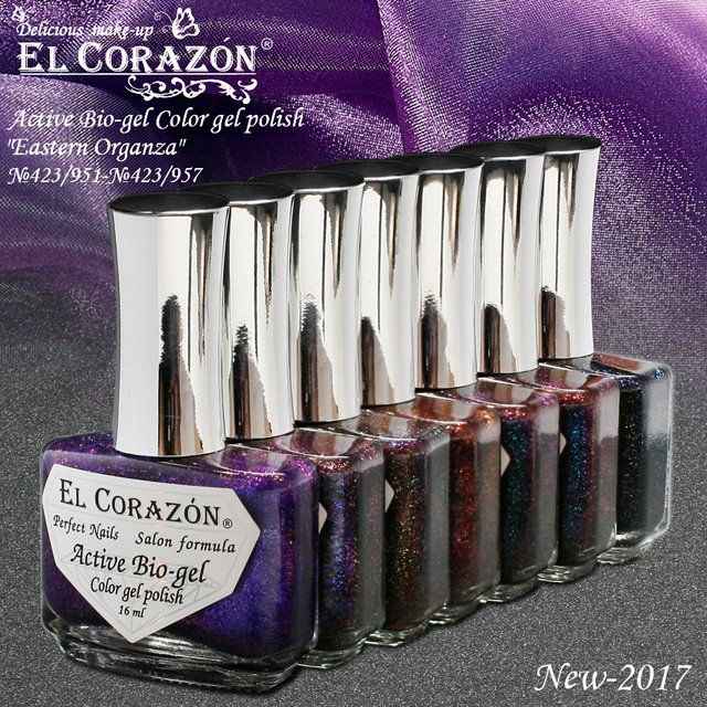 EL Corazon Active Bio-gel Color gel polish Eastern Organza, эль коразон active bio-gel, el corazon active bio-gel купить