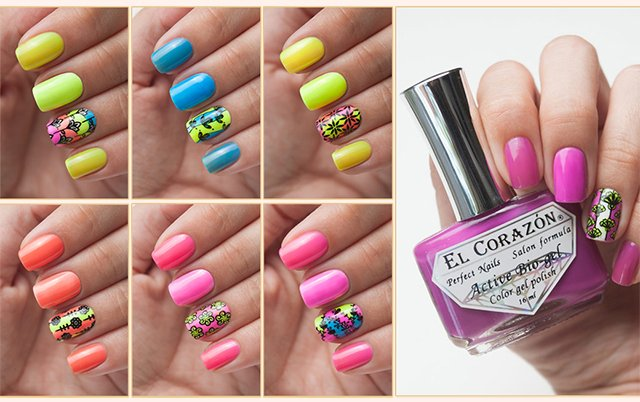 EL Corazon Active Bio-gel Color gel polish Jelly neon №423/251 423/252 423/253 423/254 423/255 423/256 423/257