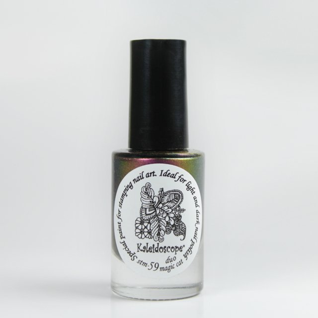 краска для стемпинга, Special paint for stamping nail art Stm-59 Duo magic cat