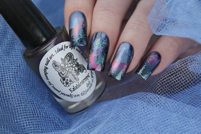 краска для стемпинга, Special paint for stamping nail art Stm-60 Duo fairytale cat