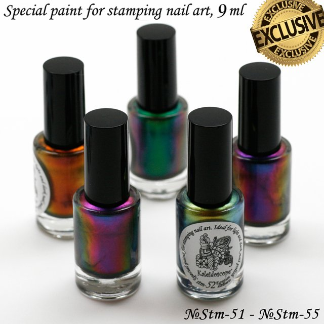 EL Corazon Kaleidoscope Special paint for stamping nail art Stm-51